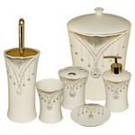 İhouse 905 Porselen 6 Parça Banyo Seti Beyaz