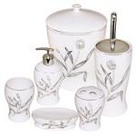 İhouse 906g Porselen 6 Parça Banyo Seti Beyaz