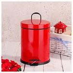 İhouse Hal0016 Metal Çöp Kovası Kırmızı