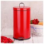 İhouse Hal0020 Metal Çöp Kovası Kırmızı