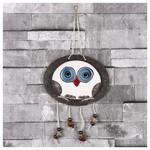 İhouse Ih138 Oval Baykuş Duvar Süsü Beyaz