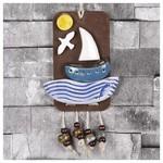 İhouse Ih143 Yelkenli Gemi Duvar Süsü Mavi