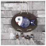 İhouse Ih144 Oval Balık Duvar Süsü Mavi