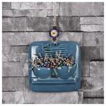 İhouse Ih186 Pencere Çiçeği Duvar Süsü Mavi