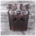 İhouse Ih347 Dekorlu Kapı Sepeti Eskitme Siyah