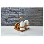 İhouse Pj24 Porselen Peçete Ve Tuzluk Seti Beyaz