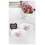 KeramIka Kayık Romeo 19 Cm Beyaz 004 Pınk Rose