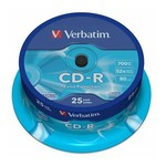 Verbatim Cd-r Extra Protection 700mb 52x 80min 25'li Cakebox