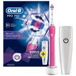 Oral-B Pro 750 Cross Action Şarjlı Diş Fırçası Pembe
