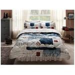 Taç Denim Uyku Seti Çift Kişilik - Mavi