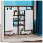 Adore Joy 2 Kapaklı Kitaplık Ünitesi Noce-lake Beyaz 150x153x32 Cm