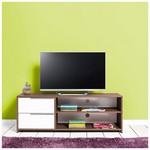 Adore Flat Line Quadro 2 Bölmeli Ve Çekmeceli Tv Dolabı Noce-lake Beyaz 130x47x40 Cm