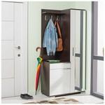 Adore Elegant Aynalı Portmanto Ve Ayakkabılık Dolabıwenge-beyaz 90x188x43 Cm