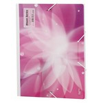 Comix Lastikli Dosya A4 Pembe Bloom (a7268)