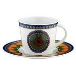 Kütahya Porselen 8982 Desen Çay Fincanı Ve Tabağı