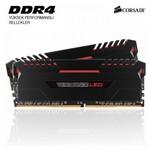 Corsair VENGEANCE LED Kırmızı led'li DDR4-3200Mhz CL16 16GB (2x8GB) DUAL (16-18-18-36