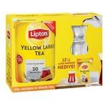 Lipton Yellow Label Demlik Poşet Çay + 12 Adet Ajda Bardak Hediyeli