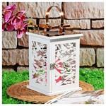 İhouse 53654 Dekoratif Mumluk-beyaz
