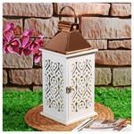 İhouse 53657 Dekoratif Mumluk-beyaz