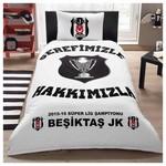 Taç Lisanslı Beşiktaş Şampiyonluk Nevresim Takımı Tek Kişilik