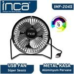 Inca IMF-204S Masaüstü Metaş Fan + Alümınyum Pervane Siyah 4