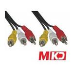 MKD Mk-rca02 Mk-rca02 Video Stereo Ses Rca-rca (vcd Kablosu) Kablo 1.5 Metre