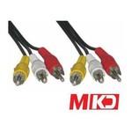 MKD MK-RCA22 Video Stereo Ses Rca-Rca ( Vcd Kablosu ) Kablo 1.8 Metre