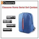 """Classone Roma Serisi Bp-m301, 8.7""""-14"""", Medium, Mavi, Ultrabook, Tablet Uyumlu, Noteb"""