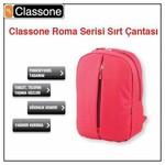 """Classone BP-M302 Roma 14"""" Laptop Çantası - Kırmızı"""
