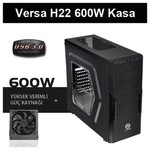 Thermaltake Versa H22 Window 600w Gaming Kasa (CA-3B3-60M1WE-00))