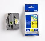 Brother P-touch Tze-651 Tze-tape 24 Mm Sarı Üzerine Siyah Laminasyonlu Etiket