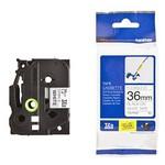 Brother P-touch Tze-261 Tze-tape 36 Mm Beyaz Üzerine Siyah Laminasyonlu Etiket