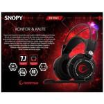 Snopy SN-RW1 7.1 USB Oyuncu Mikrofonlu Kulaklık Siyah