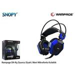 Snopy SN-R5M Rampage SN-R5 Oyuncu Siyah/Mavi Mikrofonlu Kulaklık