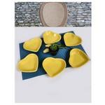 KeramIka 6 Lı 14 Cm Sarı Kalp Cerezlık