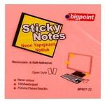 Bigpoint Yapışkanlı Not Kağıdı 75x75 Mm 100 Yaprak