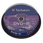 Verbatim 43666 Dvd+r 10 Spindle Double Layer Matt Silver 8x 8.5gb
