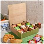 İhouse 57518 Dekoratif Çay Saklama Kutusu Yeşil