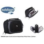 Addison 300208 21x10.5x15cm Büyük Boy Prfsynl Kam. Çantası Siyah