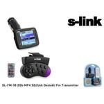 S-Link Sl-fm-18 Sl-fm-18 2gb Mp4 Sd/usb Destekli Fm Transmitter