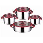 Neva N2312 Eva Premium 8 Prç.çelik Tencere Seti - Kırmızı