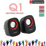 Classone K3000 1+1 Speaker - Siyah - Kırmızı