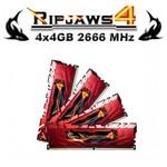 G.Skill Ripjaws4 4x4GB Desktop Bellek (F4-2666C15Q-16GRR)