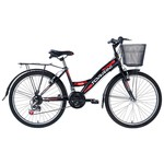 Tunca Torrini Kanyon 24 Jant Sepetli Bagajlı Bisiklet - Siyah