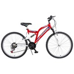 Tunca Torrini Yaris 24 Jant 21 Vites Çift Amortisörlü Bisiklet - Kırmızı