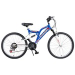 Tunca Torrini Yaris 26 Jant 21 Vites Çift Amortisörlü Bisiklet - Mavi