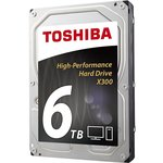 Toshiba 6TB X300 High-Performance Hard Disk (HDWE160EZSTA)