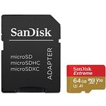 Sandisk 64gb Micro Sd Extreme Sdsdqxaf-064g-g46a 64gb 100mb/s
