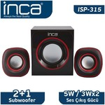 Inca Isp-315 Inca Isp-315 Multimedia 2+1 Usb Speaker