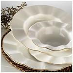 Kütahya Porselen Milenda Yemek Takımı 83 Parça Krem / Mat File